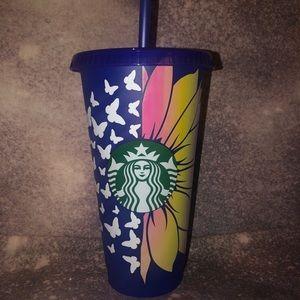 Starbucks sunflower butterflies